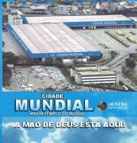A Cidade Mundial, da Igreja Mundial do Reino de Deus, comporta 150 mil fiéis.