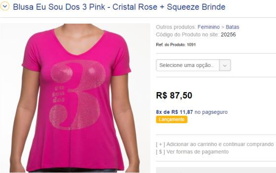 Batinha do Thalles por módicos R$ 87,50. O crente tem que pagar o preço!!!